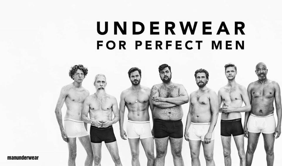 huippumuoti verkossa myytävänä uk myymälä Dressmann выбрала обычных мужчин для рекламы нижнего белья ...
