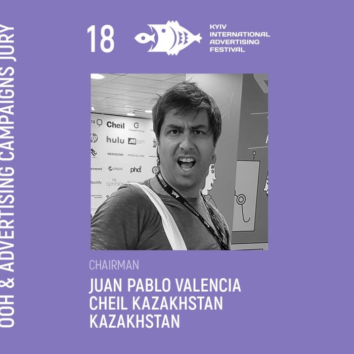 Juan Pablo Valencia, Executive Creative Director, Cheil Kazakhstan, Казахстан