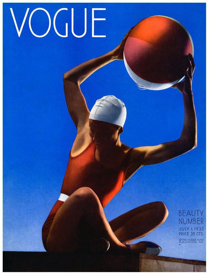Фотография Эдварда Штайхена для обложки американского Vogue, июль 1932 года.