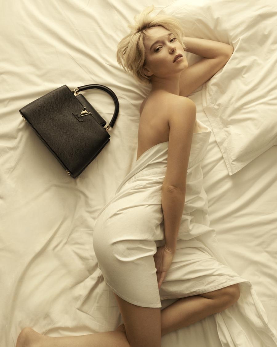 Леа Сейду повторила съемку Мэрилин Монро в рекламе Louis Vuitton
